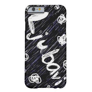 """白黒""""Ljubavi""""の(愛)電話箱 Barely There iPhone 6 ケース"""