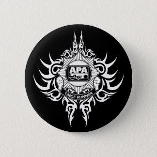 白黒APAのテーブルのランナー 缶バッジ