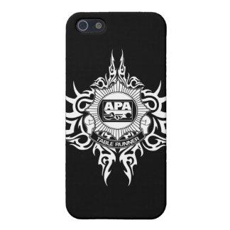 白黒APAのテーブルのランナー iPhone SE/5/5sケース