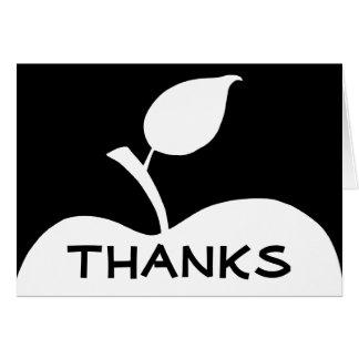 白黒Appleは感謝していしています カード