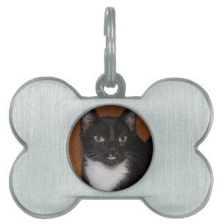 白黒CAT ペットネームタグ