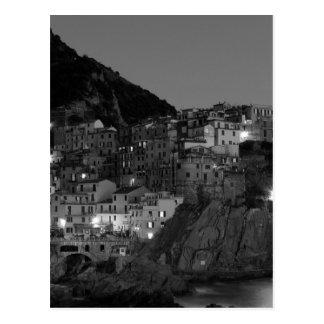 白黒Cinque Terre ポストカード