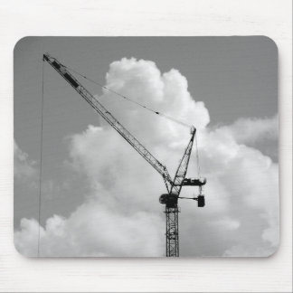 白黒Cumulonimbusクレーン- マウスパッド