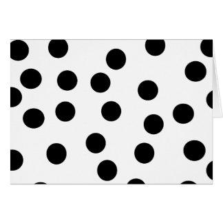白黒Dalmatian点パターン カード