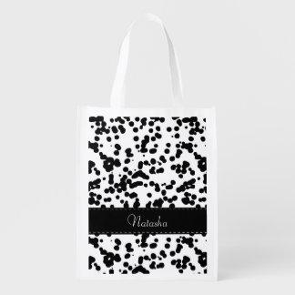 白黒Dalmatian点 リユーザブルバッグ
