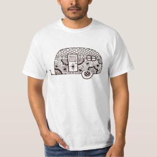 白黒glamper tシャツ