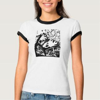 白黒Graphiqueの蝶イメージ Tシャツ