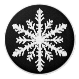 白黒Ikatの雪片- セラミックノブ