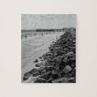 白黒Jekylの島のジョージアの海の障壁 ジグソーパズル