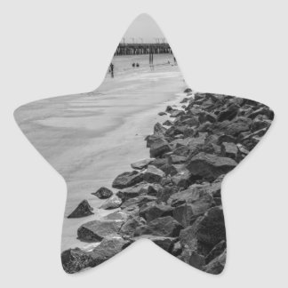 白黒Jekylの島のジョージアの海の障壁 星シール