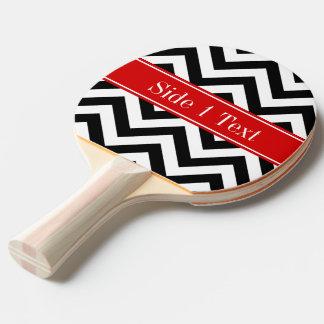 白黒LGシェブロンの赤い一流のモノグラム 卓球ラケット