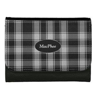 白黒MacPheeのカスタムなタータンチェック格子縞の財布 ウォレット