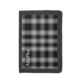 白黒MacPheeのタータンチェック格子縞の財布 ナイロン三つ折りウォレット
