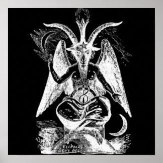 白黒Mendesのヤギ ポスター