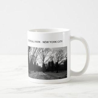 白黒NYセントラル・パークのnr 5 コーヒーマグカップ