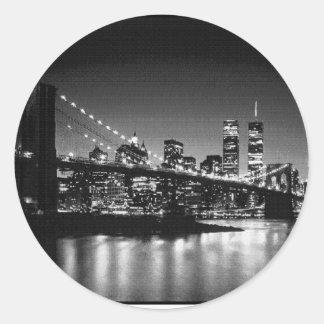 白黒NYC ラウンドシール