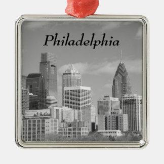 白黒Phillyの超高層ビル メタルオーナメント