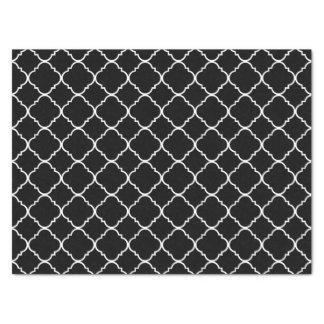 白黒Quatrefoil 薄葉紙