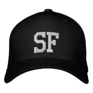 白黒SFのカスタムな帽子- 刺繍入りキャップ