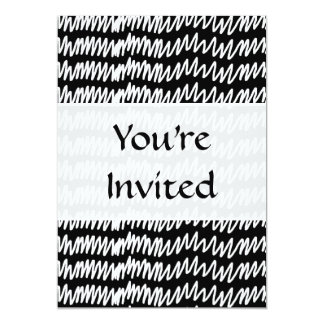 白黒squiggleパターン カード
