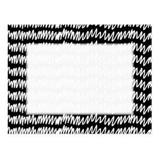 白黒squiggleパターン ポストカード