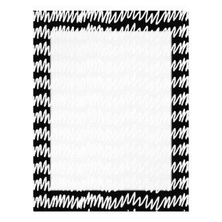 白黒squiggleパターン レターヘッド