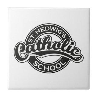 白黒St. Hedwigのカトリック系の学校 タイル