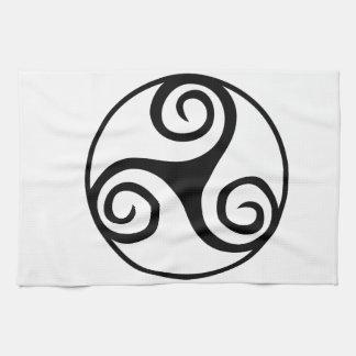 白黒Triskelion キッチンタオル