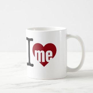 """白11のoz """"私は私を""""マグ愛します コーヒーマグカップ"""