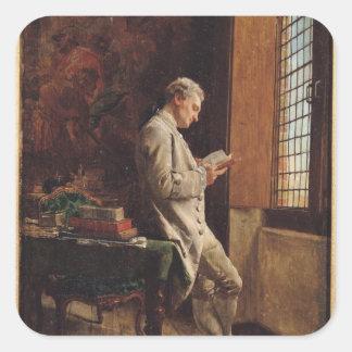 白1857年の読者 スクエアシール