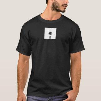 白5.25インチのフロッピー・ディスクワイシャツ Tシャツ