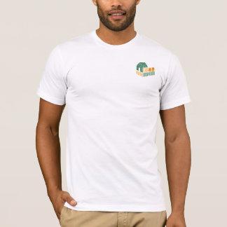 白(メンズアメリカの服装)の衝突ロゴ Tシャツ