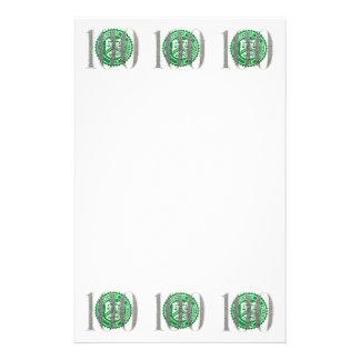 百のドル札 便箋