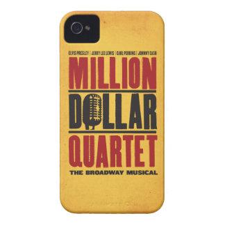 百万のドルの四つ組のロゴ Case-Mate iPhone 4 ケース