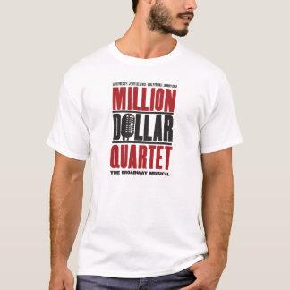 百万のドルの四つ組のロゴ Tシャツ
