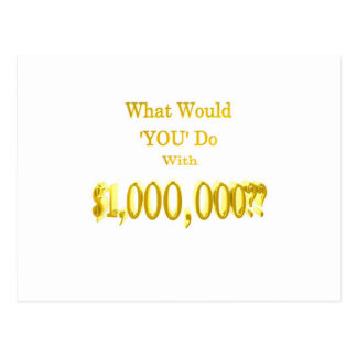 百万のドルの質問 ポストカード