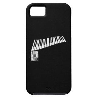 百万台のドルの四つ組のピアノ-白 iPhone SE/5/5s ケース