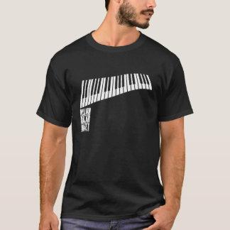 百万台のドルの四つ組のピアノ-白 Tシャツ