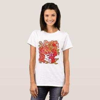 """「百歳」Series * RosedGirl""""薔薇江戸娘"""" color Tシャツ"""