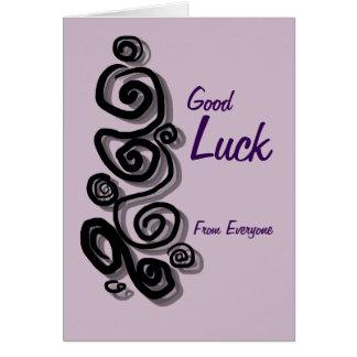 皆からの幸運はあなたのメッセージの渦巻を加えます カード