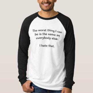皆と同じように Tシャツ