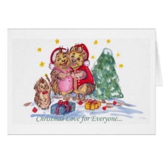 皆のためのクリスマス愛 カード