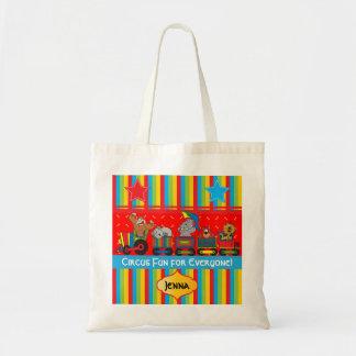 皆のためのサーカスのおもしろいベビーのための子供部屋のテーマ トートバッグ