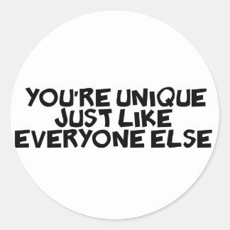 皆のようにあなたはちょうどユニーク ラウンドシール