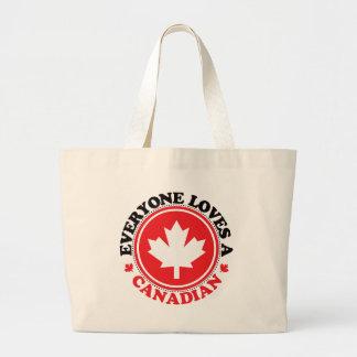 皆はカナダ人を愛します! ラージトートバッグ