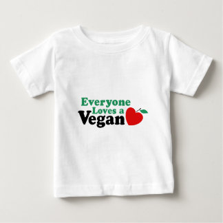 皆はビーガンを愛します ベビーTシャツ
