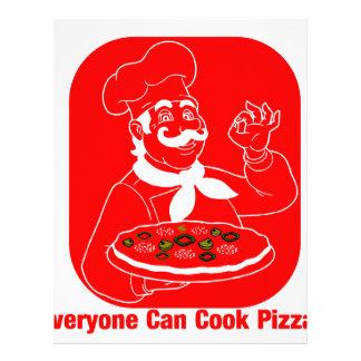 皆はピザを調理できます レターヘッド