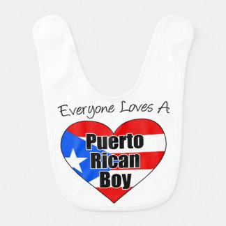 皆はプエルトリコの男の子のベビー用ビブを愛します ベビービブ