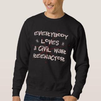 皆は内戦Reenactorを愛します スウェットシャツ