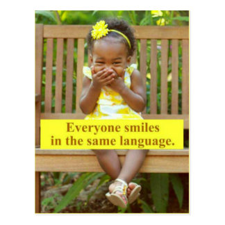 皆は同じ言語で微笑します ポストカード